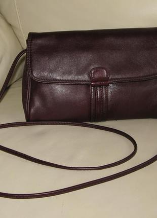 Стильная кожаная сумка сумочка почтальонка кроссбоди cypress натуральная кожа