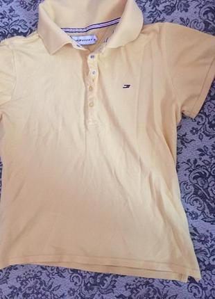 Желтая футболка поло tommy hilfiger