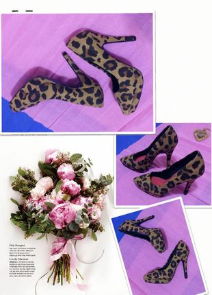 Туфли с леопардовым принтом.h&м.23 см стопа.