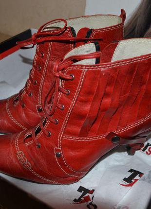 Кожаные демисезонные ботинки tiggers