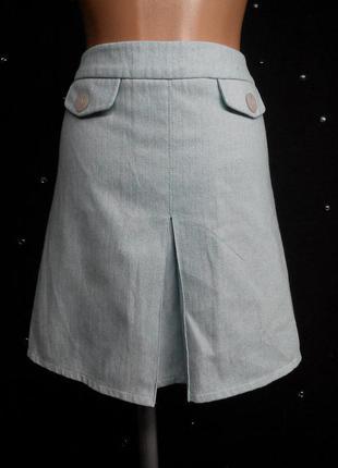 Ментоловая юбка в стиле 60х