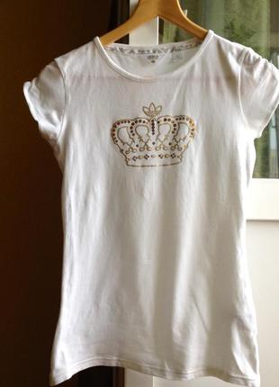 Белоснежная спортивная футболка adidas respect me, s-m, 42-44, eur 36-38.