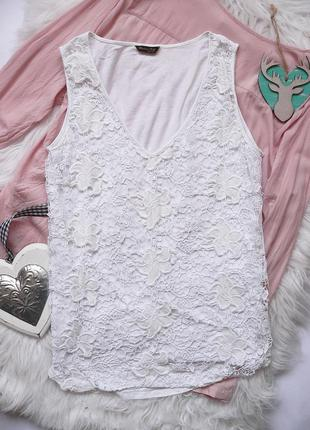 Шикарная кружевная блуза топ   massimo dutti  s-m