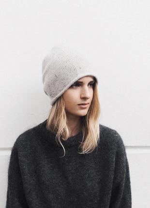 Кашемировая шапка cos 307230 light grey
