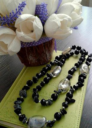 Ожерелье бусы камни