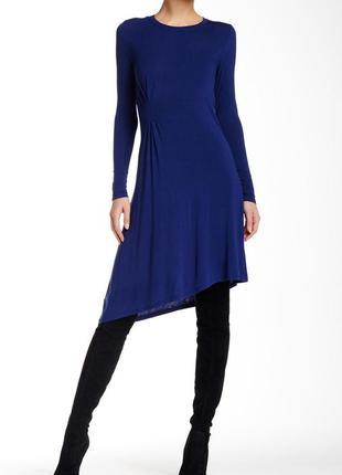 Синее вискозное платье бренд bcbgmaxazria размер м