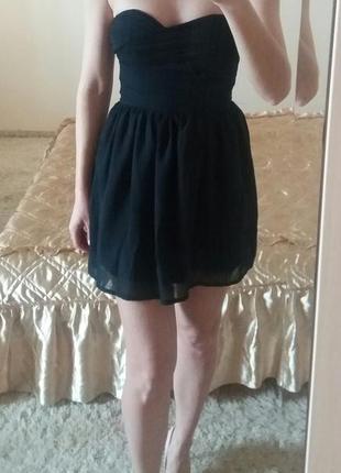 Платье бюстье на дюймовочку