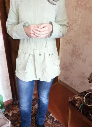 Ветровка тонкая плащ пиджак (см. замеры)