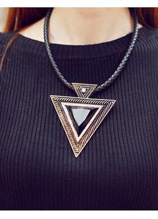 Колье, подвеска треугольник