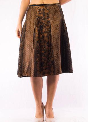 Юбка женская миди коричневая marc o'polo с узорами (42) (l)