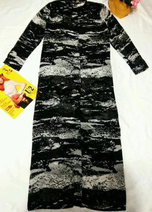 Шикарная рубашка платье, накидка 14 размер