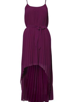 Шикарное плисерованное платье