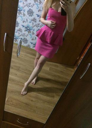 Милое платье бюстье с баской