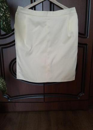 Новая жёлтая юбка-карандаш l