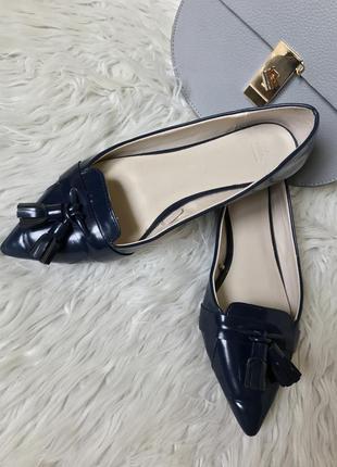 Синии туфли-лоферы zara