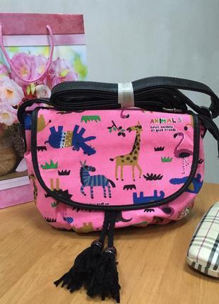 Сумка через плечо/сумка кроссбоди/клатч y013 №5 розовый/различные принты/