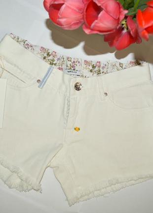 Шорти gas шорты джинсовые белые білі s/27 винтаж