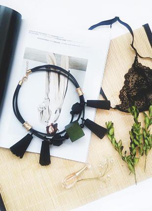 Стильное геометрическое ожерелье