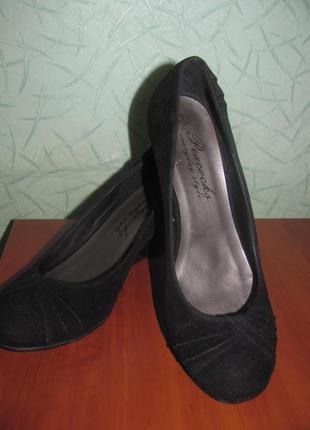 Туфли замш 39