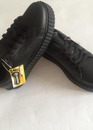 Чёрные новые криперы кроссовки натуральная кожа