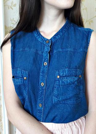 Стильная джинсовая блуза от roman m- l размера