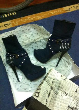 Стильные ботиночки с открытым носком luciano carvari