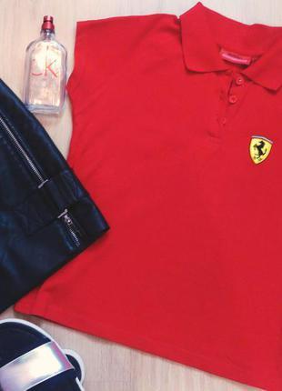 Женская рубашка-поло ferrari classic оригинал xs/s