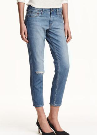 Джинсы бойфренды h&m cropped jeans girlfriend fit р. 25 (34)