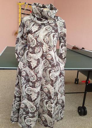 Платье теплое стильное 36р-42-р