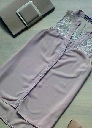 Изумительная блуза selekt с кружевной сеткой