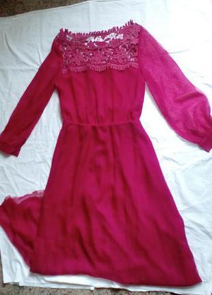 Кружевное платье в пол на выпускной от valentino