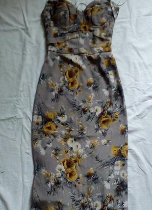 Платье футляр-бюстье от dolce & gabbana