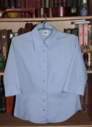 Хлопковая рубашка bay голубого цвета