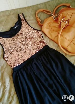 Платье (коктейльное) с паетками