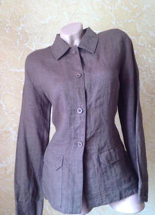 Льняная рубашка пиджак