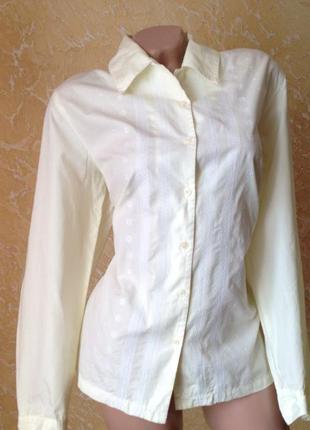 Светлая рубашка длинный рукав eddie bauer. скидка10%на2вещи!)