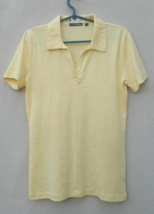 Трикотажная футболка  поло с воротником