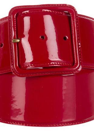 Широкий красный пояс из лаковой кожи miu miu оригинал 80 см