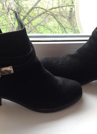 Ботинки, полуботинки женские чёрные 36 размер