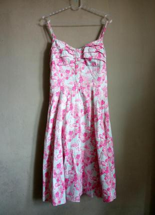 Платье во фламинго