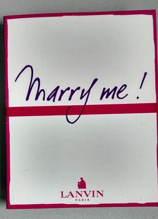 Пробник lanvin marry me