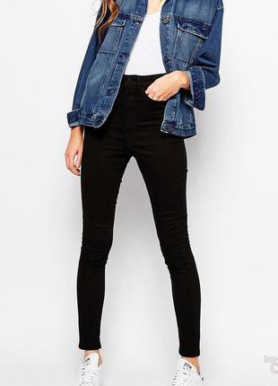 Черные джинсы скинни от only l-размера