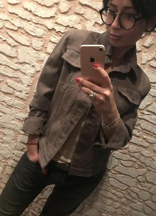 Стильная куртка хаки philipp plein