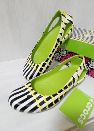 Дизайнерские балетки crocs kadee mondo w7 37,5-38 стелька 24,5 см