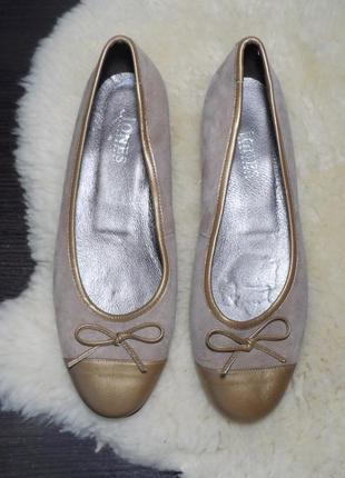 Кожаные балетки бренда jones bootmaker! производство испания! 41 р.