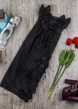 Платье коктейльное котоновое черное от ax paris