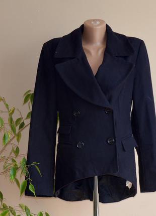 Синее кашемировое пальто zara интересный фасон