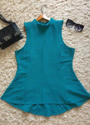 Очень стильная блуза/ туничка от lipsy в очень красивом бирюзовом цвете