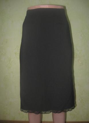Стильная юбка карандаш с разрезом сбоку