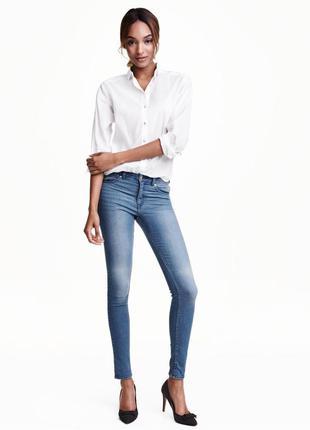 Суперстрейчевые узкие джинсы h&m 38p или м